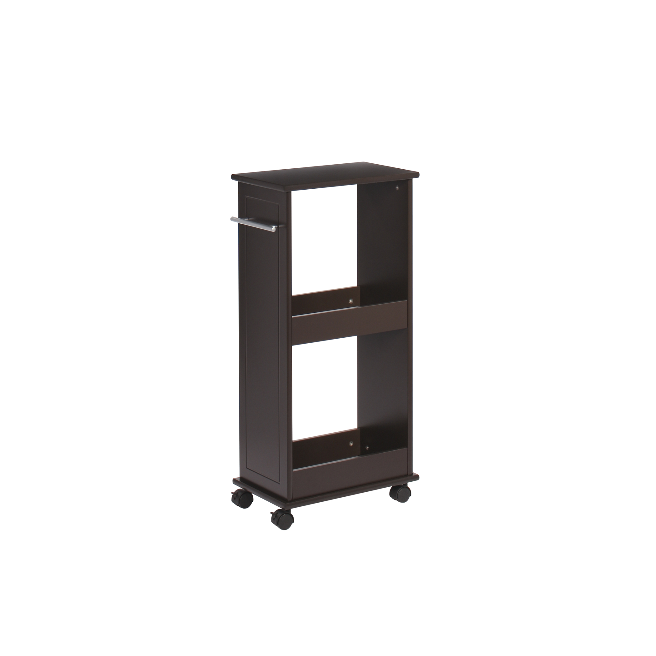 RiverRidge Rolling Cabinet with Shelves, Espresso