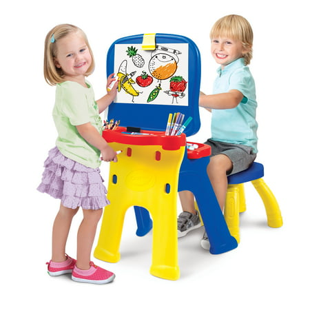 Crayola Triple-the-Fun Art Studio Easel and Desk](Art Easel For Kids)