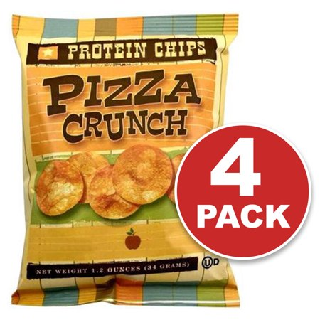 Protein Chips, Pizza Flavored, Low Carb Snack, High Fiber, 4