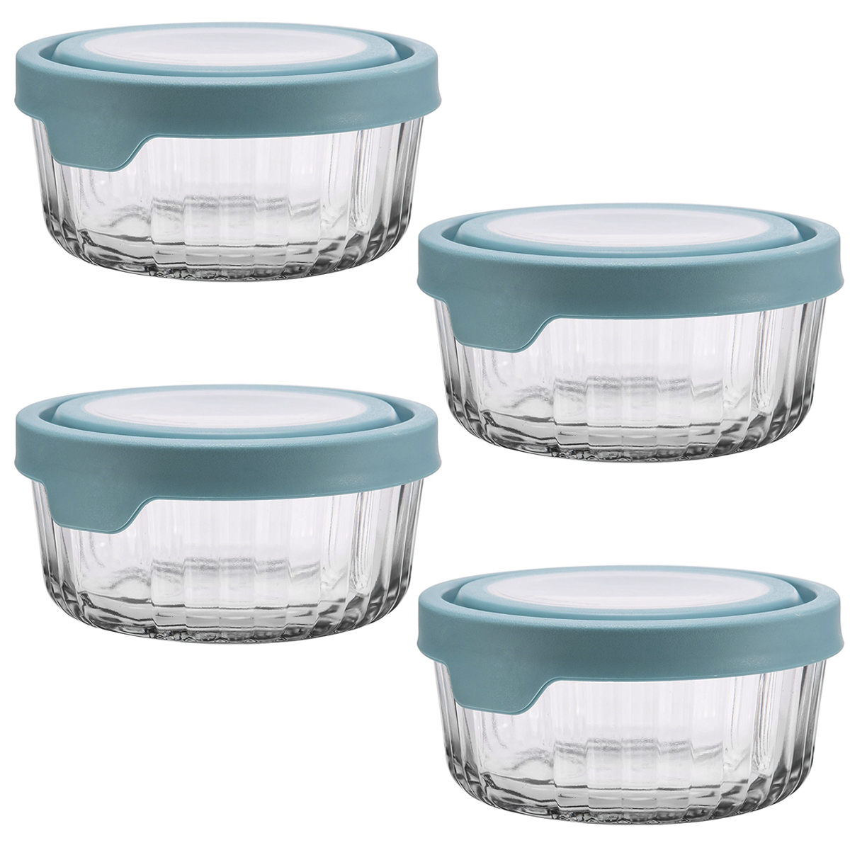 Anchor Hocking8pc 4 Cup Round Glass True Seal Food Storage