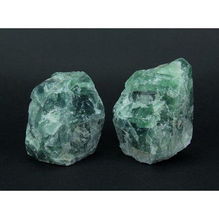 Natural Fluorite Gemstone Bookend Set - image 3 de 4