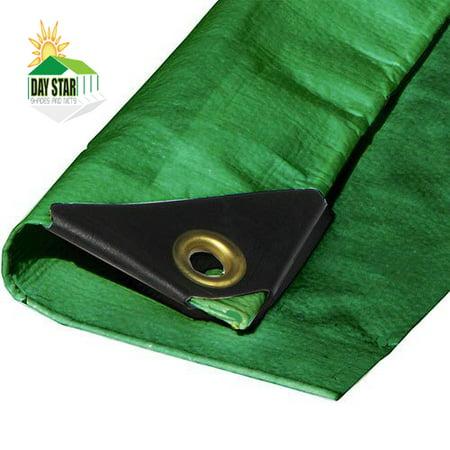 Image of 8' x 8' Green Tarp Heavy Duty Green Canopy Top Premium Sun Shade Tarp