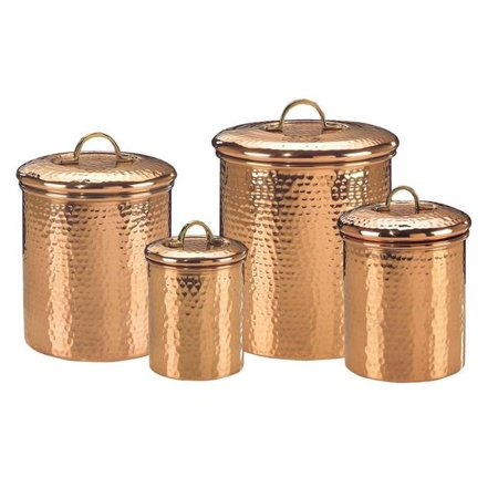 4 qt. Hammered Canister  Copper