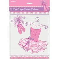 Pink Ballerina Favor Bags, 8ct