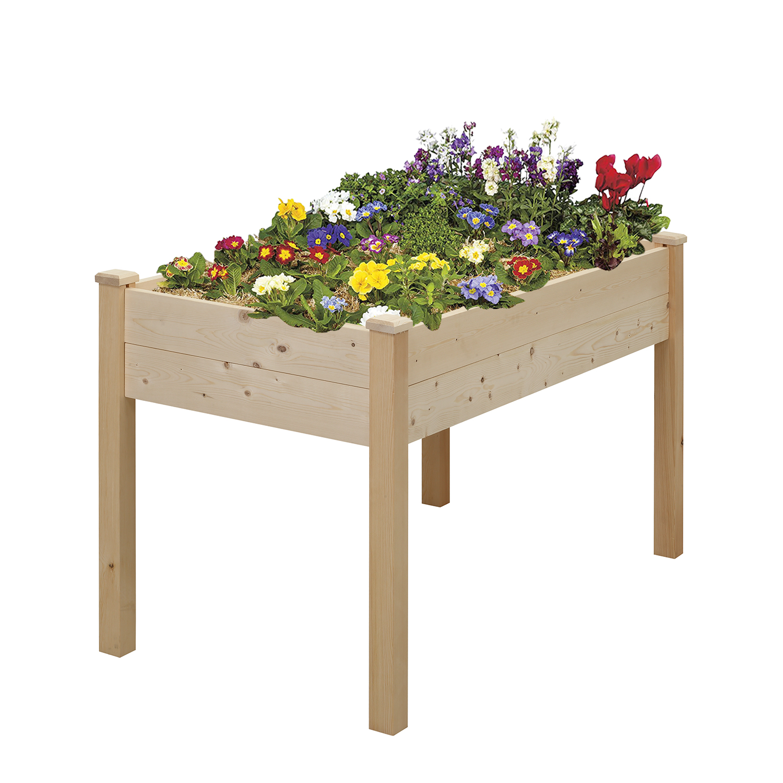 Raised Planters On Legs: Ainfox Wood Raised Garden Bed Vegetable Flower Planter