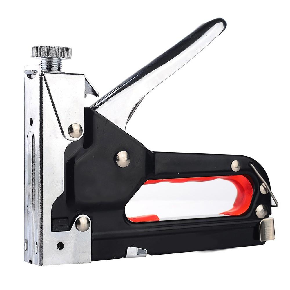 Wideskall Heavy Duty 3 in 1 Hand Staple Gun Shooter Tacker w 500 Assorted Nail Stapler Kit by