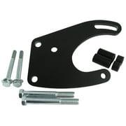 Borgeson 802409 Power Steering Pump Bracket; Painted Black Steel; Saginaw Style Pump; Incl. Hardware;