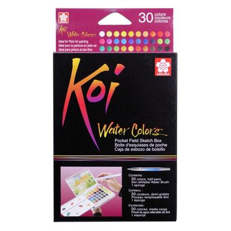 Koi Watercolor Paint Pocket Field Sketch 30-Color Set