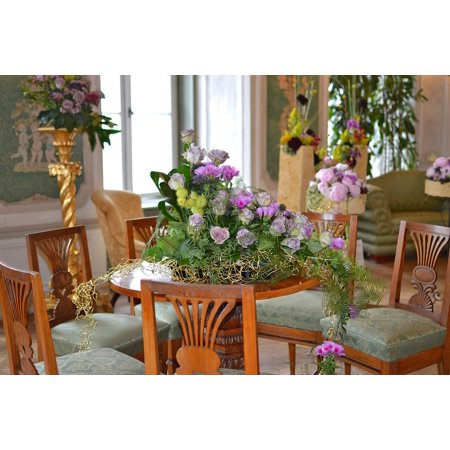 Canvas Print Floristry at The Castle Decoration with Flowers Stretched Canvas 10 x 14 - Castle Decorations