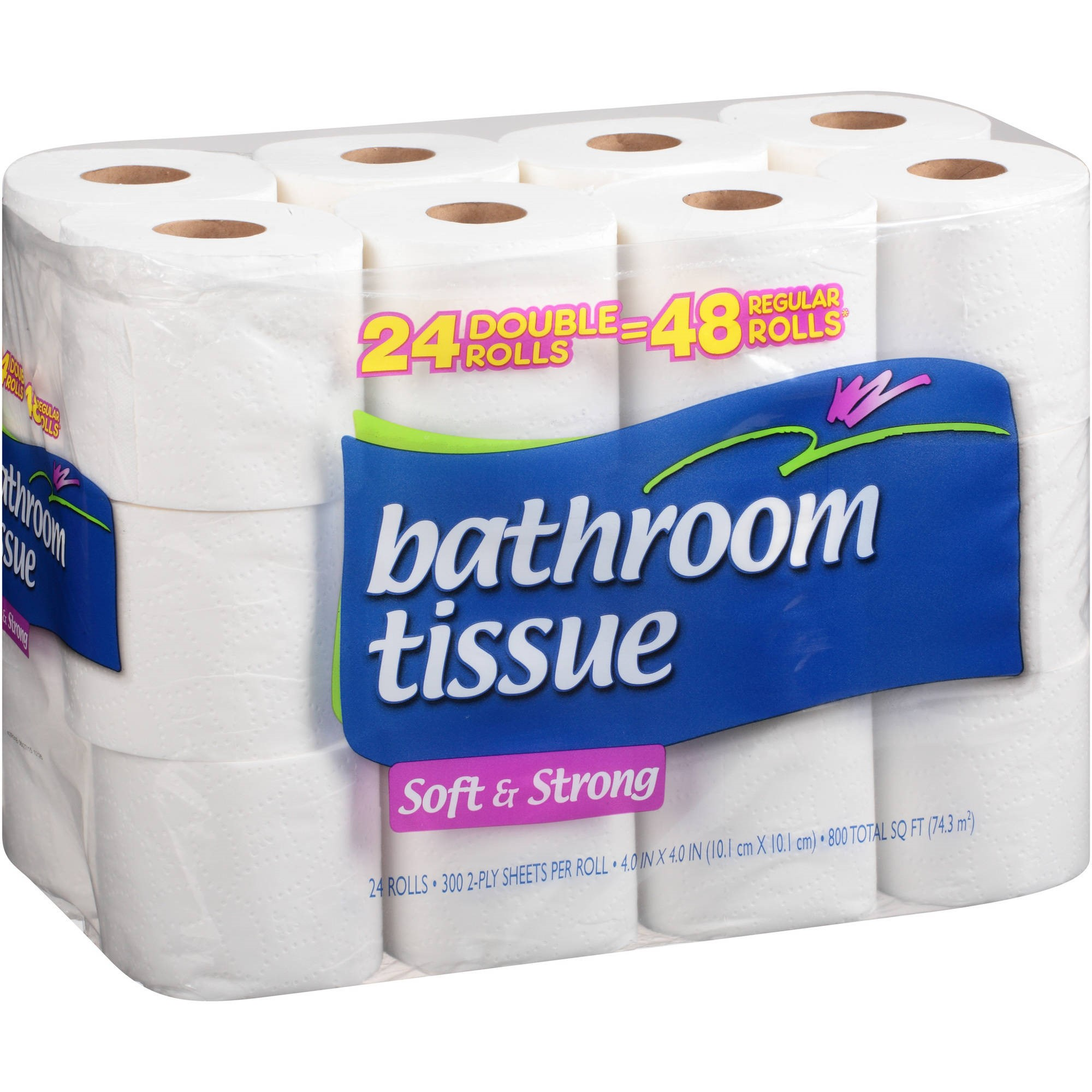 Bathroom Tissue cascades soft & strong bathroom tissue, 24 ct - walmart