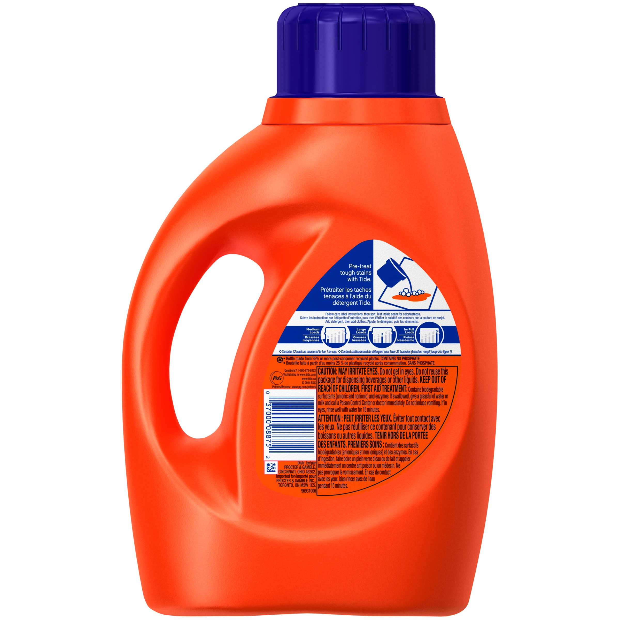 How Much He Detergent To Use Tide Original Liquid Laundry Detergent 50 Fl Oz Plastic Jug