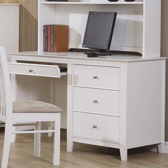 Coaster Company Selena Computer Desk, White