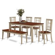nico6 whi w 6 piece dining room set for 4 table with. beautiful ideas. Home Design Ideas