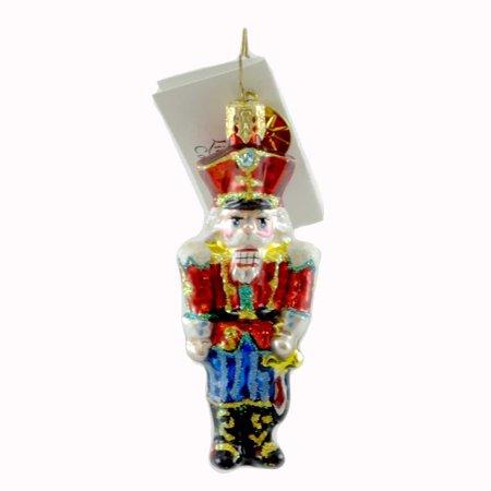 Christopher Radko COURT CRACKER GEM Glass Ornament Christmas Nutcracker