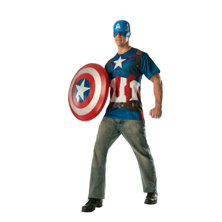 Mens Large Captain America Avenger Costume T-Shirt- - Blues Clues Costume