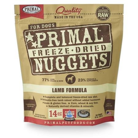 Red Barn Pet Foods (Primal Pet Foods Nuggets Grain-Free Lamb Formula Freeze-Dried Dog Food, 14 oz)
