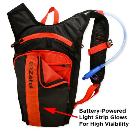 Zefal Smart Light-Up Bicycle and Outdoors 1.5 Liter Hydration Bag