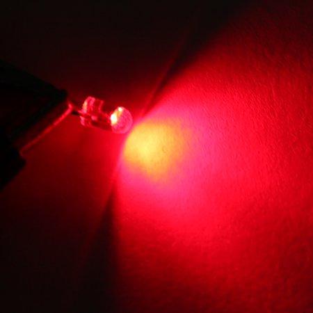Unique Bargains DC 1.9-2.2V 20mA Super Bright LEDs 3mm Orange Light Emitting Diodes 100pcs - image 1 of 3