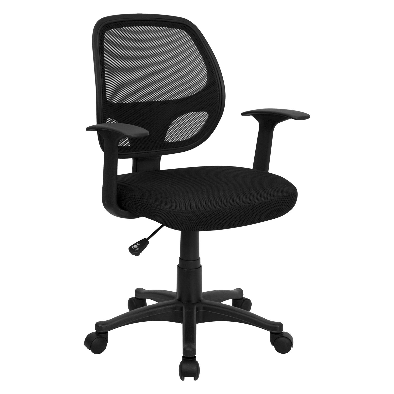 mesh computer chair with arms. flash furniture mesh back computer chair, black chair with arms i