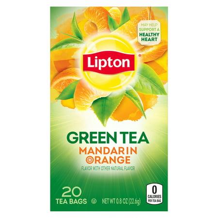 (4 Boxes) Lipton Green Tea Bags Mandarin Orange 20 (Lipton Green Tea Bags Price In India)