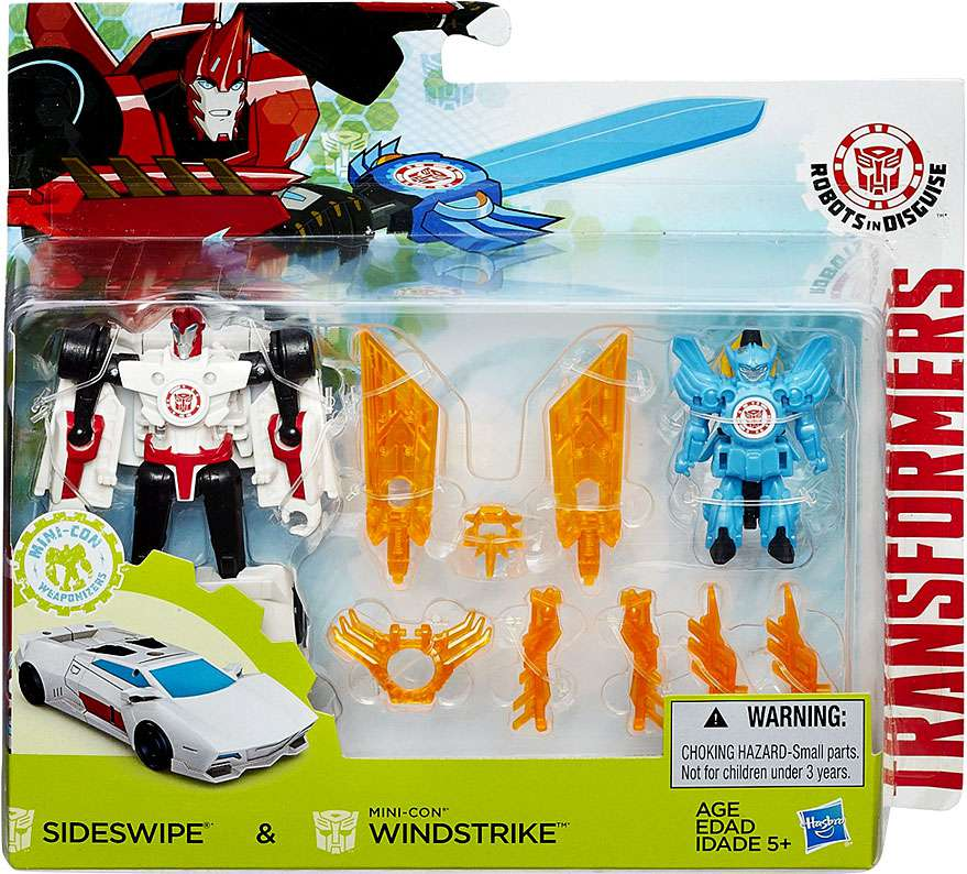 Transformers: Robots in Disguise Sideswipe and Windstrike Battle Packs