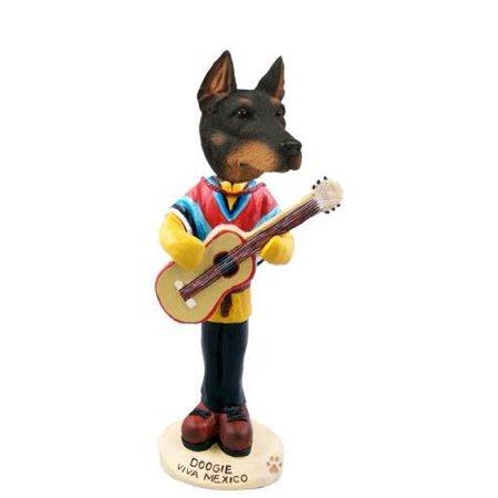 Doberman Pinscher Black W/Cropped Ears Viva Mexico Doogie Collectable Figurine