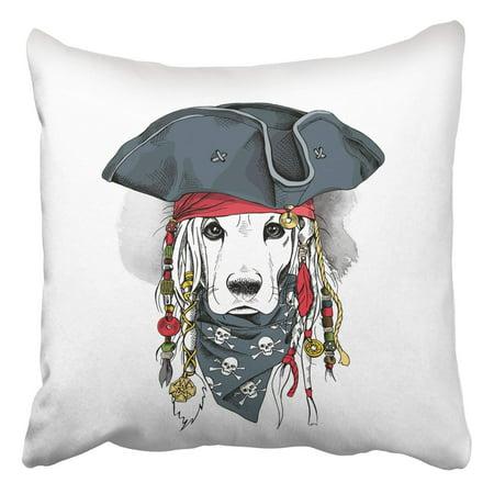 ARTJIA Portrait A Cocker Spaniel Dog In Pirate Hat Bandana A Dreadlocks Pillowcase Cover Cushion 18x18 inch