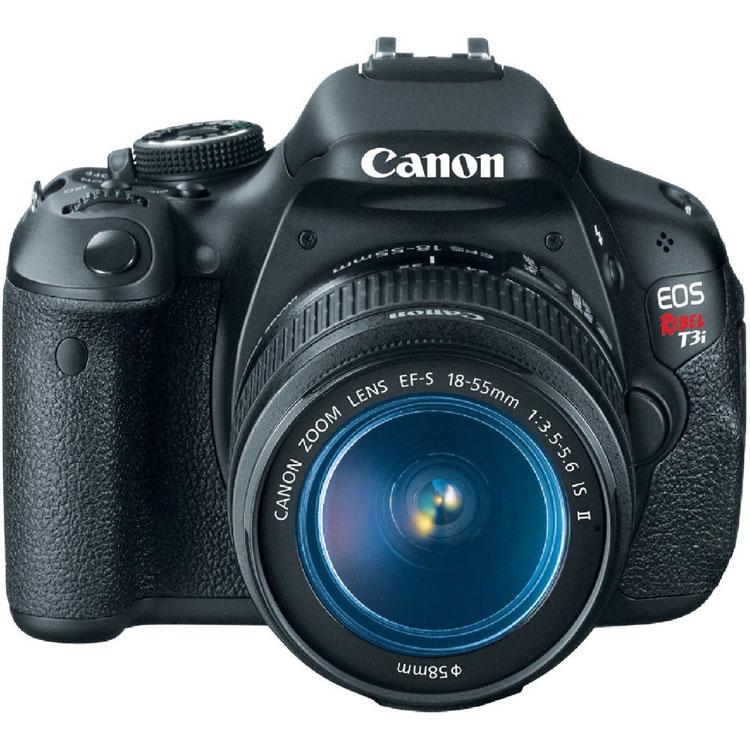 "Canon EOS Rebel T3i Black 18MP DSLR Camera, EF-S 18-55mm 1:3.5-5.6 IS II Lens, 3.0"" LCD, EOS Full HD Movie Mode"
