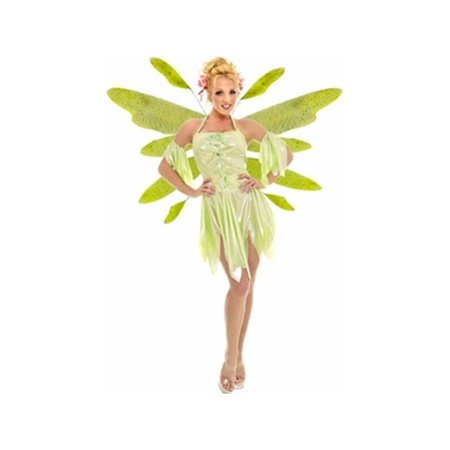 Adult Green Nymph Fairy Dress Costume w/ Wings](Fairy Dress Adult)