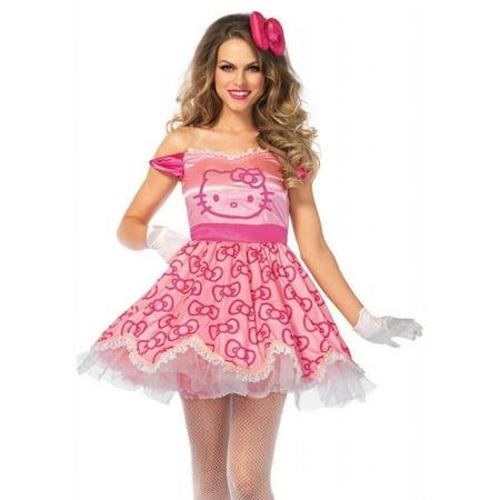 Leg Avenue Pretty Pink Hello Kitty Womens Adult Costume - Womens Hello Kitty Costume