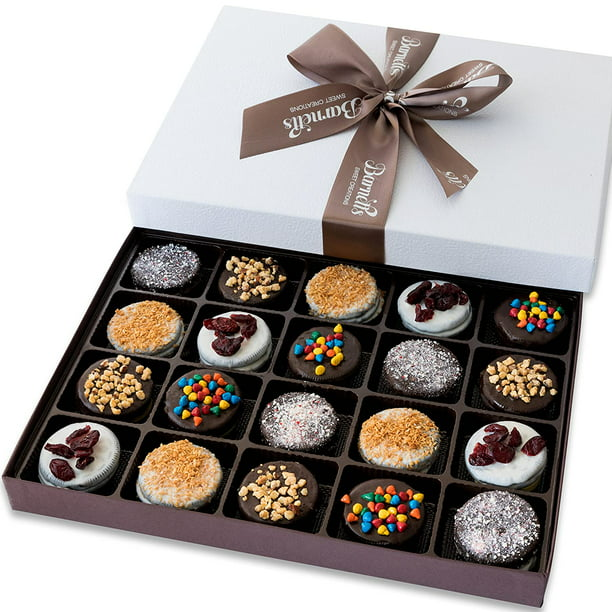 Barnett S Holiday Gift Basket Elegant Chocolate Covered Sandwich Cookies Gift Box Unique Gourmet Food Gifts Idea For Men Women Birthday Corporate Mothers Day Or Valentines Baskets For Her Walmart Com