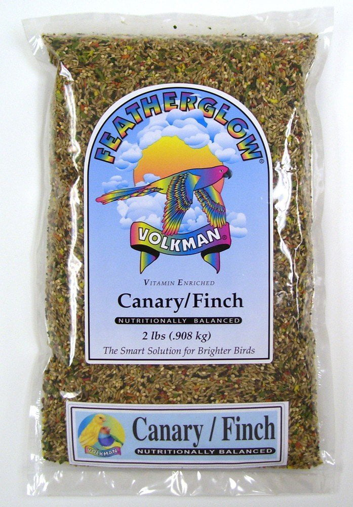 Volkman Seed Featherglow Canary Finch Nutritionally Balanced Diet Food 2lbs