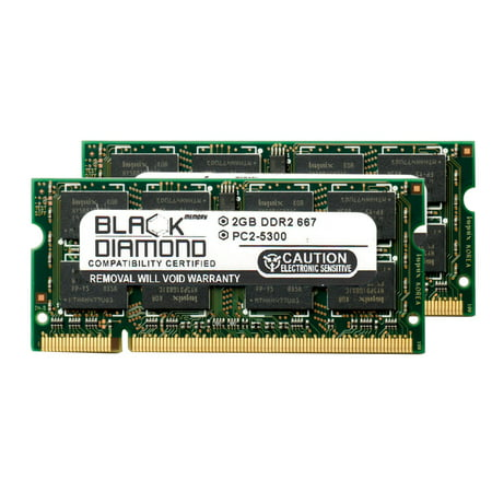 4GB 2X2GB RAM Memory for Panasonic Toughbook CF-52 Black Diamond Memory Module DDR2 SO-DIMM 200pin PC2-5300 667MHz Upgrade