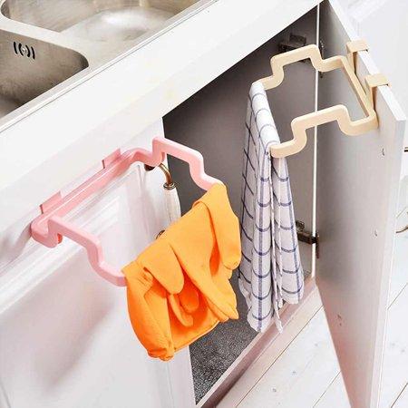 babydream1 Plastic Door Back Garbage Bag Rack Trash Rubbish Bag Holder Kitchen Bathroom Multifunction Shelf - image 4 of 9