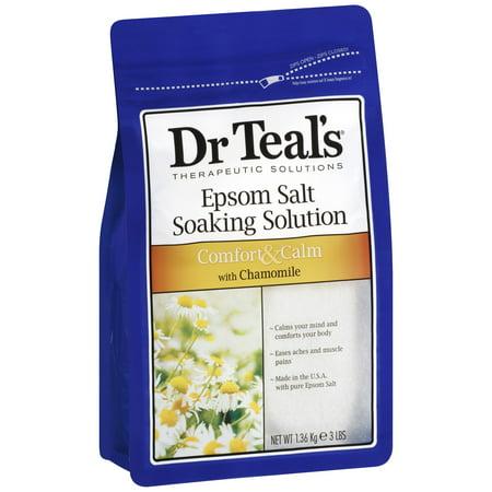 Dr Teals Epsom Salt Soaking Solution  Chamomile  48 Oz