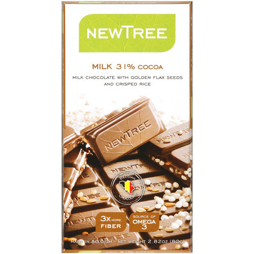 NEWTREE Milk 31% Cocoa Milk Chocolate Candy, 2.82 oz