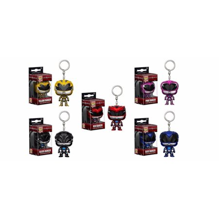 5 Piece Pop (Funko Power Rangers Movie Ranger Pocket Pop! Key Chain 5 Piece)