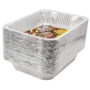 """eHomeA2Z Aluminum Pans Disposable Half Size (30 Pack) 9"""" x 13"""" Prepping, Roasting, Food, Storing, Heating, Cooking, Chafers, Catering, Buffet Supplies"""