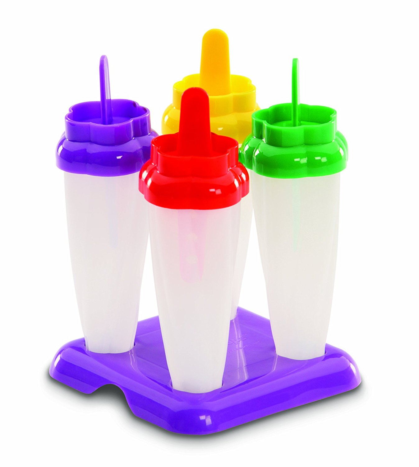 Jelly Belly Flute Pops Ice Mold, No-drip handles By West Bend