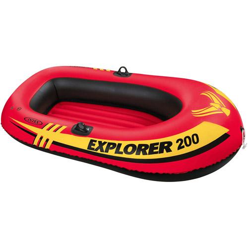 Intex Explorer 2-Person Inflatable Boat, Orange