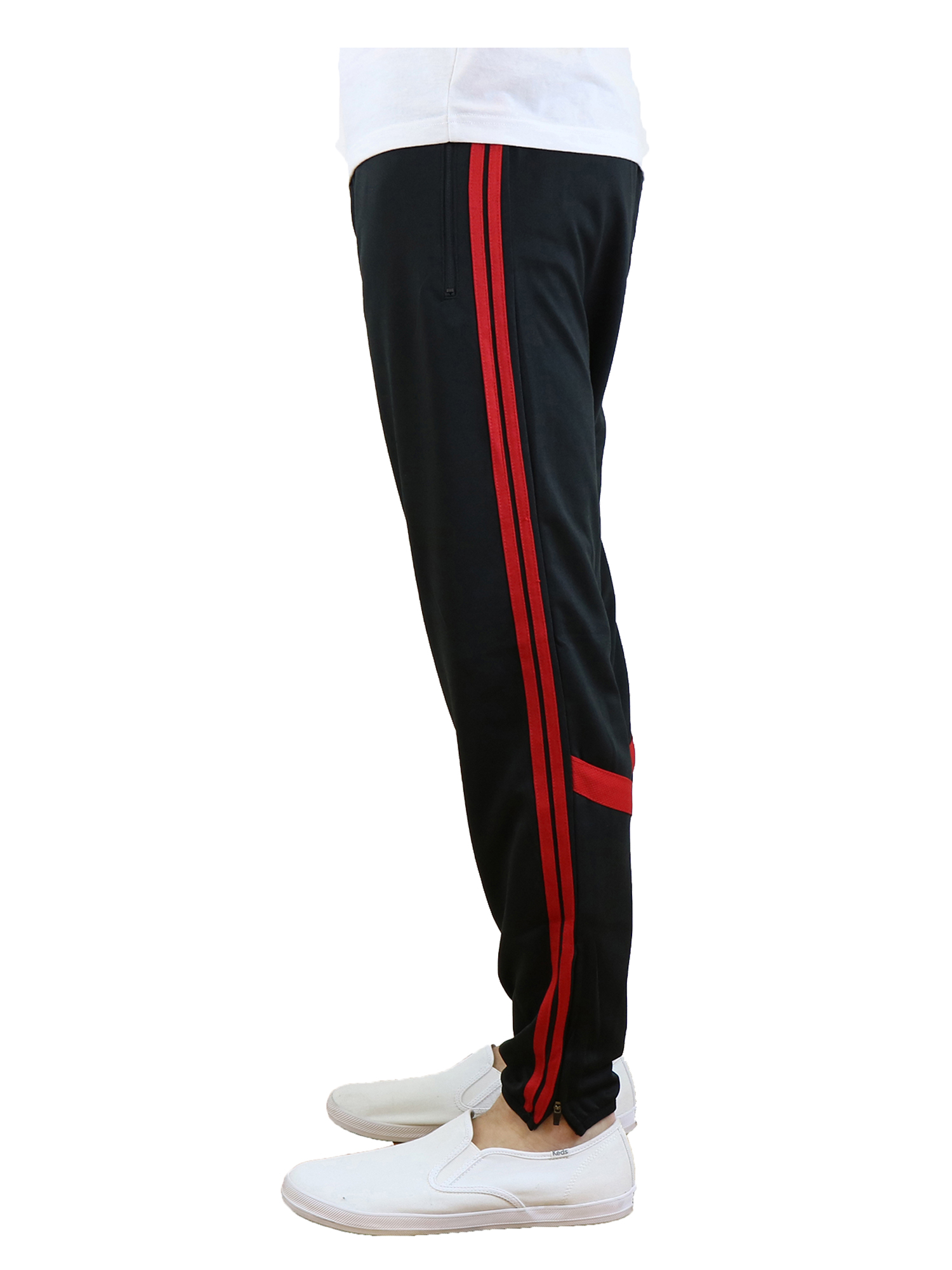 Men's Slim-Fit Moisture Wicking Striped Track Jogger
