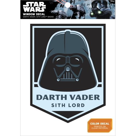 Star Wars Darth Vader Sith Lord Badge Window - Star Wars Window Decal