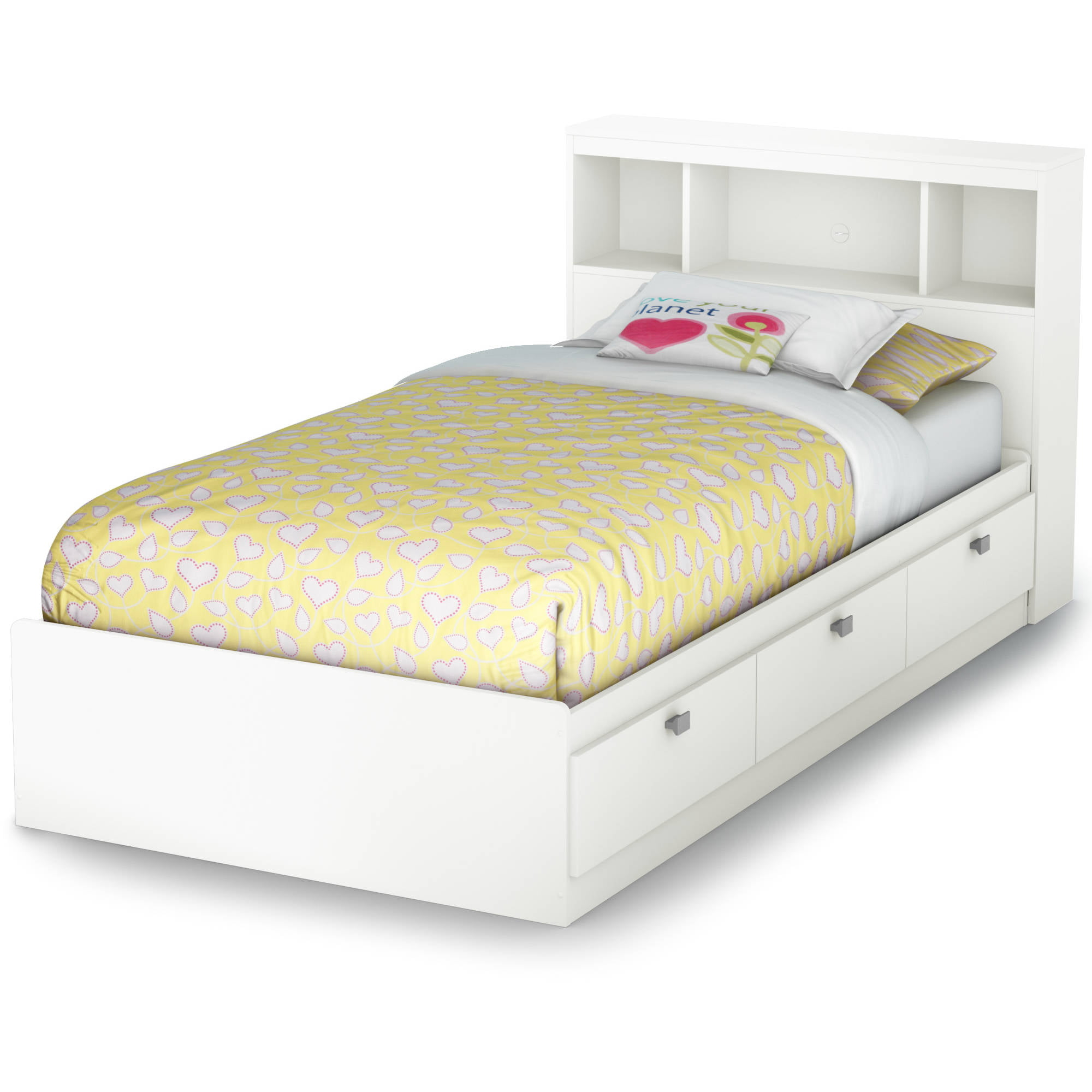 Details About Twin Mates Captains Bed Headboard Drawers Storage Kids Bedroom Furniture White