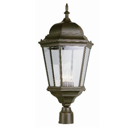 Trans Global Lighting 51001 Bk The Standard 3 Light Post Top Black