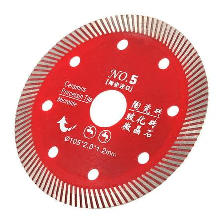 YLSHRF Concrete Cutting Disc,Red Diamond Saw Blade For Cutting Concrete Granite Marble Tile Stone 105mm,  Diamond wheel