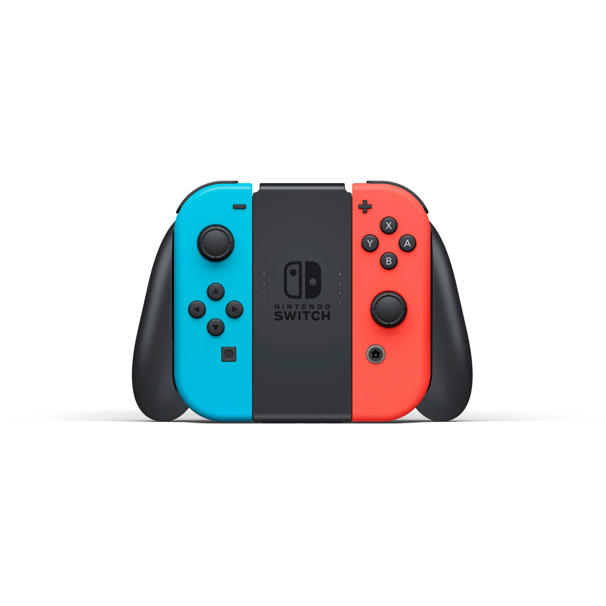 Nintendo Switch Console With Neon Blue Red Joy Con Hacskabaa 8 Way Joystick