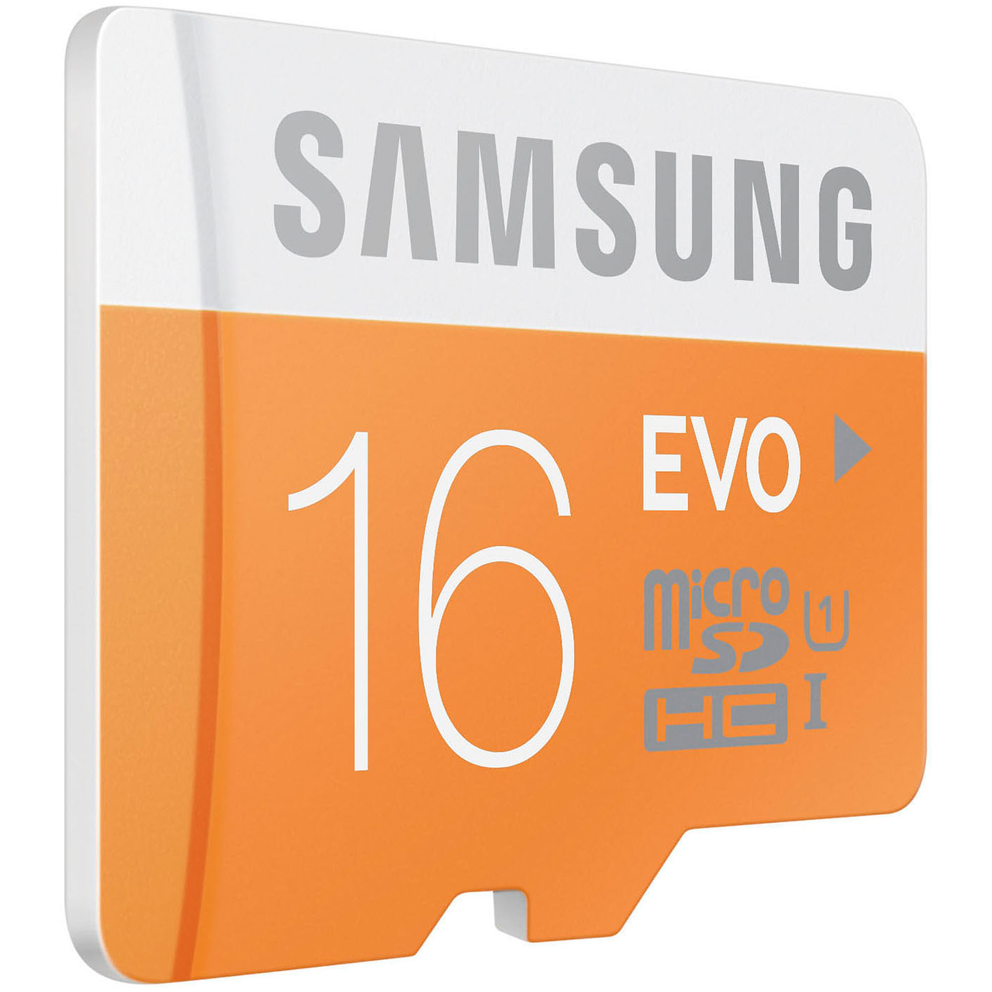 Samsung 16GB EVO Class 10 microSD Card with Adapter