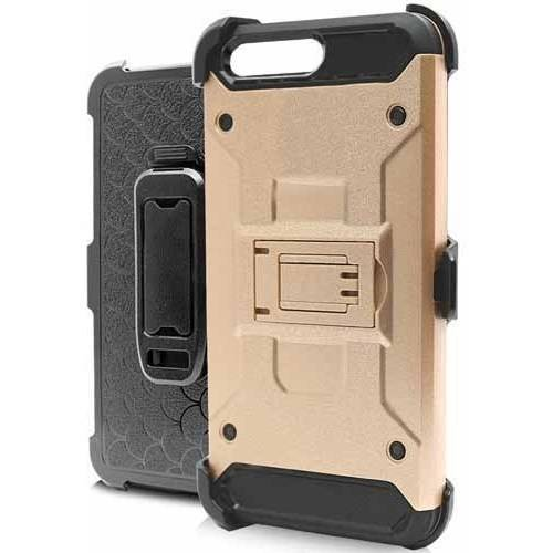 MUNDAZE Techfix Belt Clip Kickstand Hybrid Case for Apple iPhone 7 8