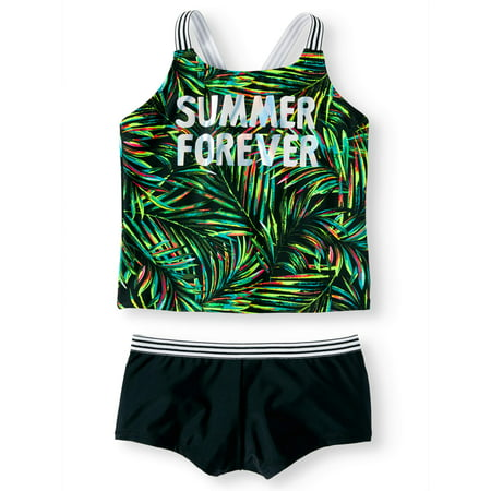 bf37bb2b1a6 Summer Forever Palm Print Tankini Swimsuit (Little Girls, Big Girls & Big  Girls Plus