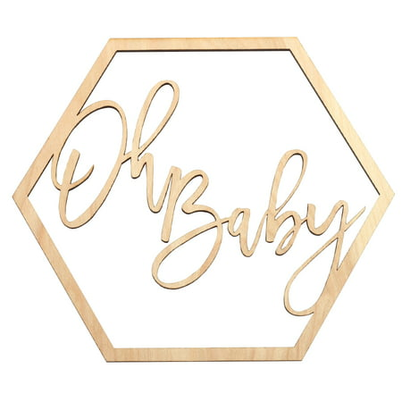 Koyal Wholesale Wood Oh Baby Sign, Party Banner For Baby Shower Decor, Backdrop, Photo Prop, Gender Reveal -